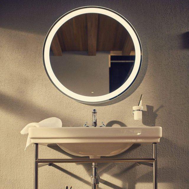 Roca  Iridia Round Illuminated Bathroom Mirror
