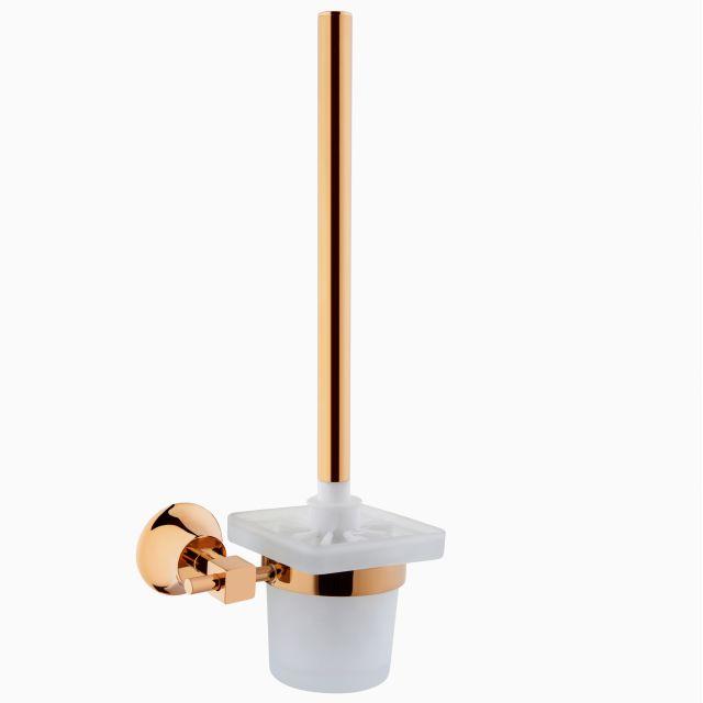 VitrA Juno Toilet Brush and Holder - 44424GOLD