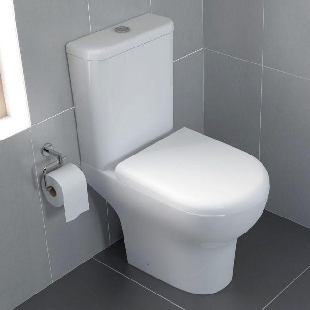 VitrA Zentrum Rimless Close Coupled Open Back WC