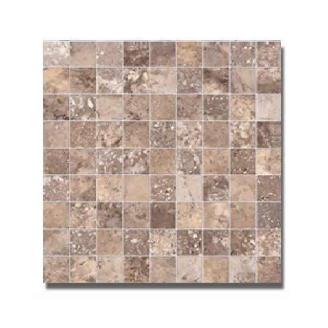 Abacus Orobianco Porcelain Travertine Mosaic Tile 30 x 30cm