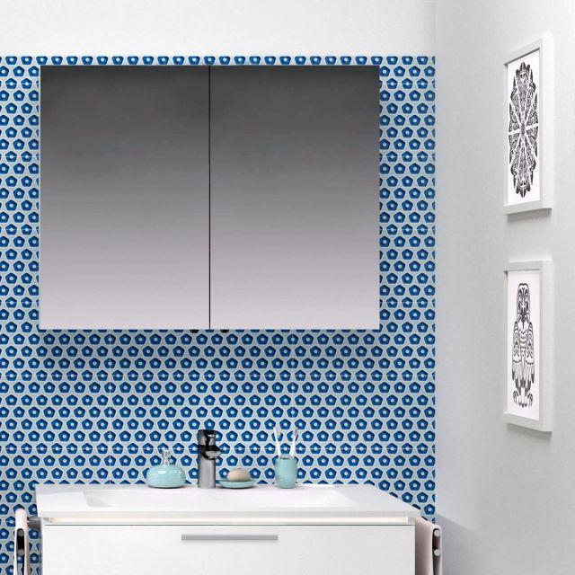 VitrA Double Door 800mm Mirror Cabinet