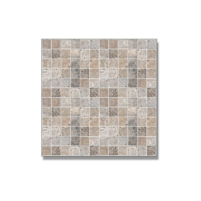 Abacus Travertine Natural Stone Small Mosaic Tile 30 x 30cm