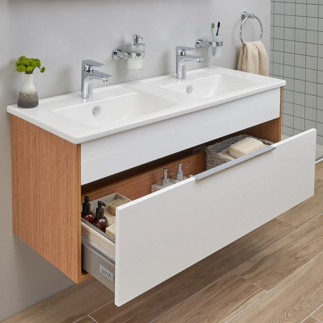 VitrA Integra Extra Large Double 1200mm Vanity Unit with Basin