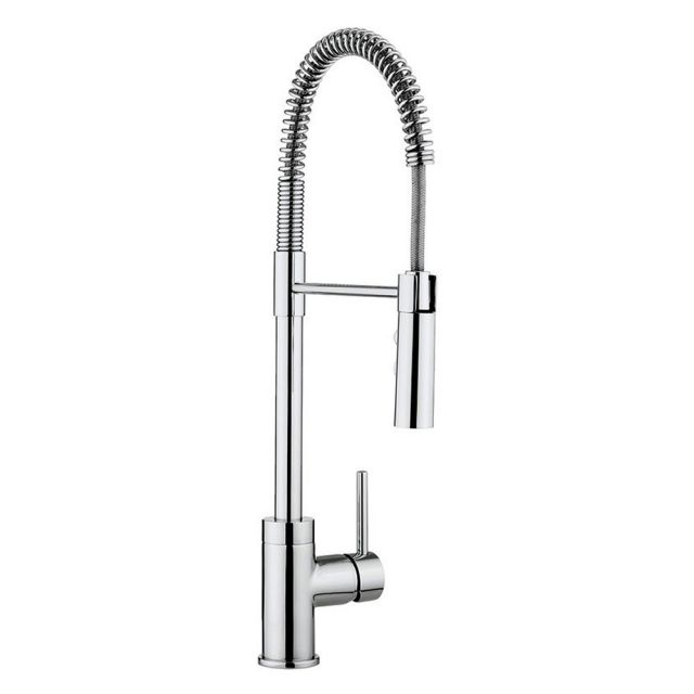 Crosswater Cucina Cook Side Lever Kitchen Mixer Tap with Flexi Spray