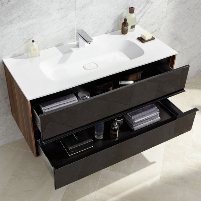 VitrA M-Line Infinit 1000mm Double Drawer Vanity