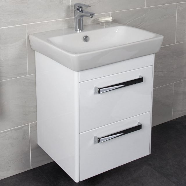 Vitra M-Line 60cm Double Drawer Vanity