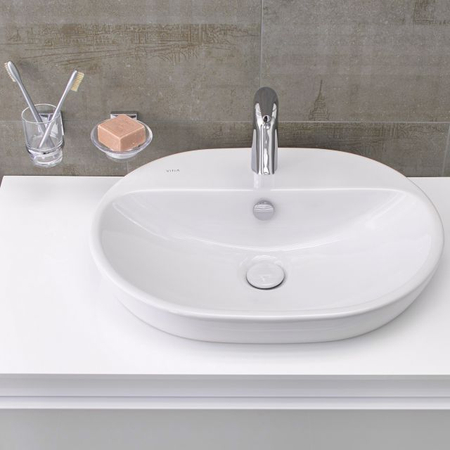VitrA M-Line Oval Countertop Basin with Ledge
