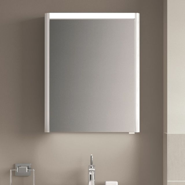 VitrA T4 1 Door Illuminated Mirror Cabinet