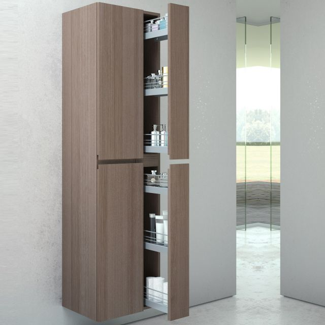 VitrA Memoria Tall Cupboard with Pull Out Storage