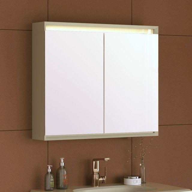 VitrA Frame Double Door LED Mirror Cabinet