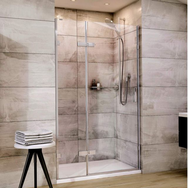 Roman Showers Liberty Hinged Door with Hinged In-Line Panel