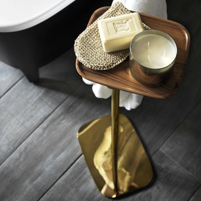 VirtA Eternity Freestanding Towel Rail with Shelf