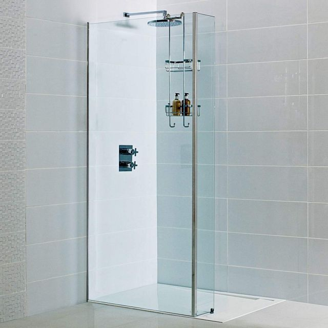 Roman Decem Wetroom Panel with Concealed Wall Profile