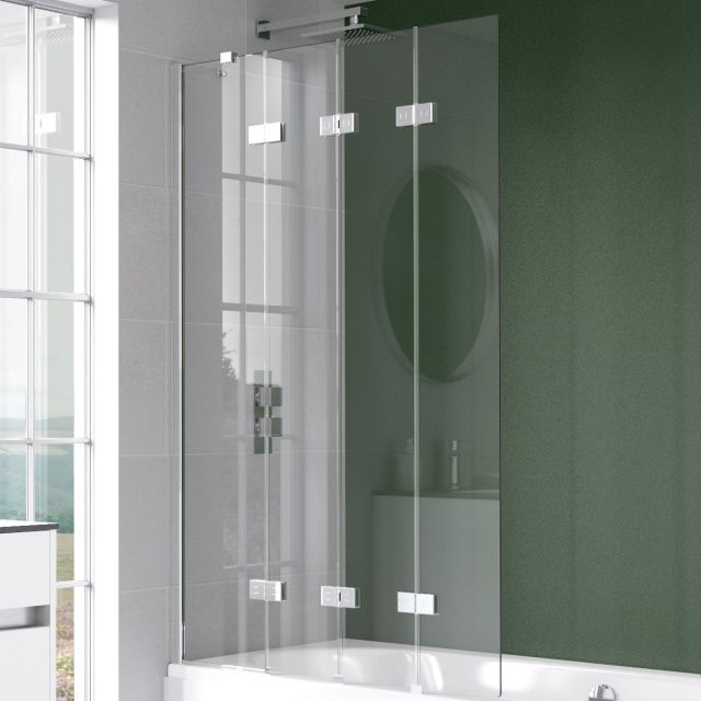 Kudos Inspire 4 Panel Compact Bath Screen