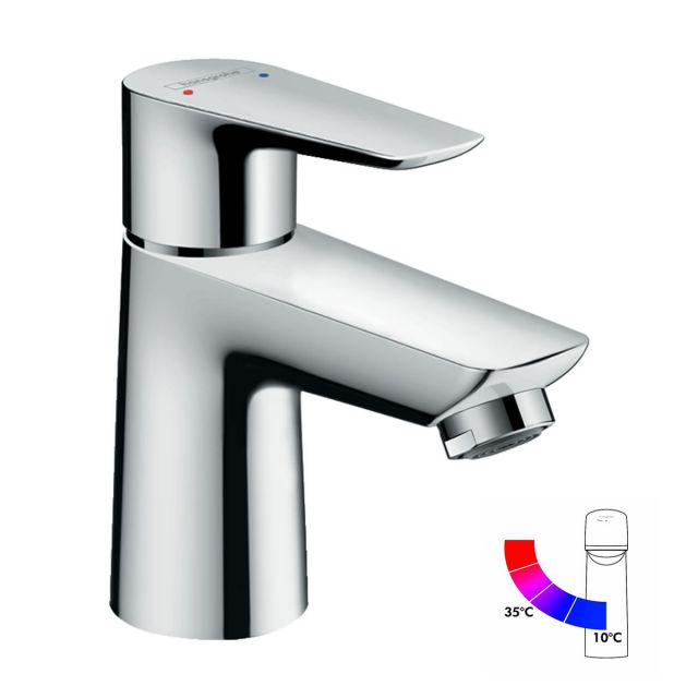 Hansgrohe Talis E Single Lever Basin Mixer Tap 80 with CoolStart