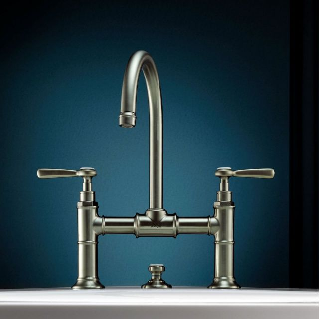 AXOR Montreux 2 Handle Basin Mixer Tap 220 with  Lever Handles
