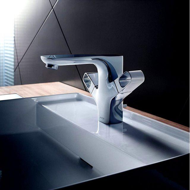 AXOR Urquiola Twin Handle Basin Mixer 120 with Pop-up Waste