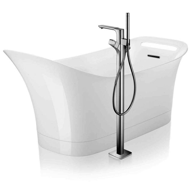 AXOR Urquiola Floor Standing Bath Mixer with Shower Handset
