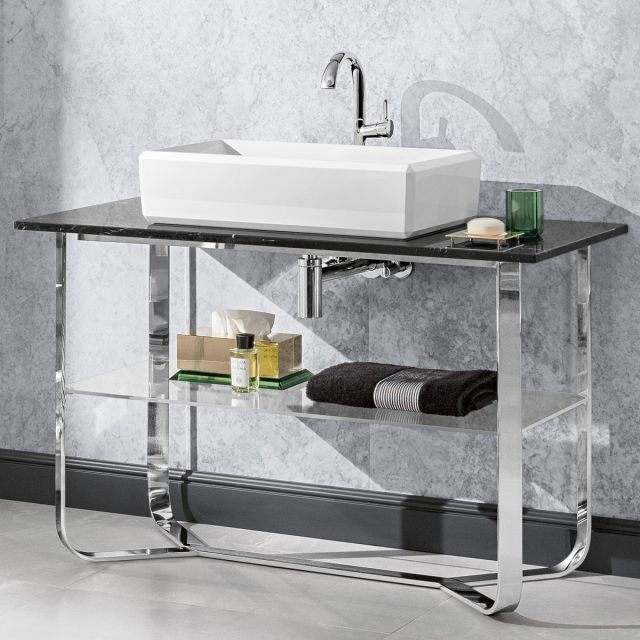 V & B Antheus Steel & Marble Washstand
