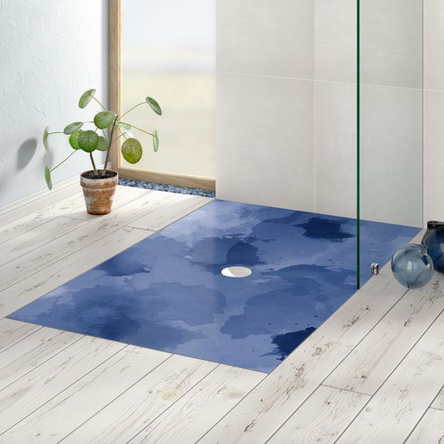 Villeroy and Boch Subway Infinity Rectangular Shower Tray with ViPrint - 6230N4VPC7
