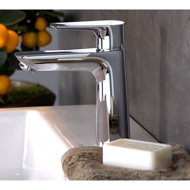 hansgrohe Talis E Single Lever Basin Mixer Tap 110 with CoolStart