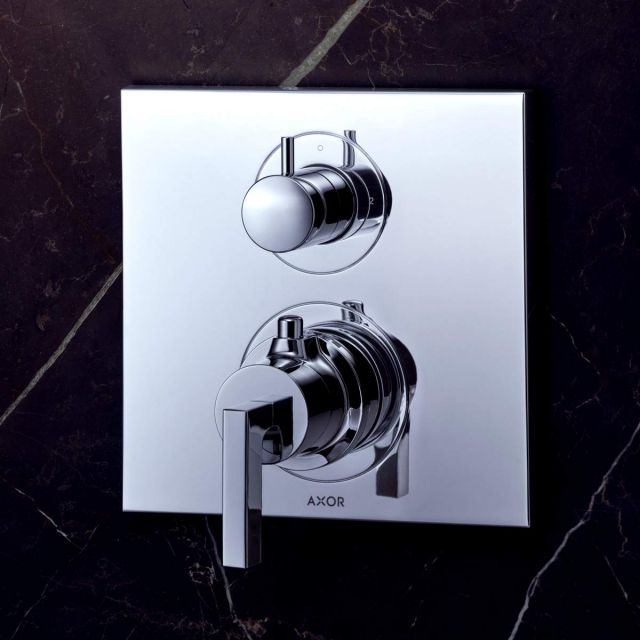 AXOR Citterio Shower Mixer with Shut-Off and Diverter Valve (Lever Handle)