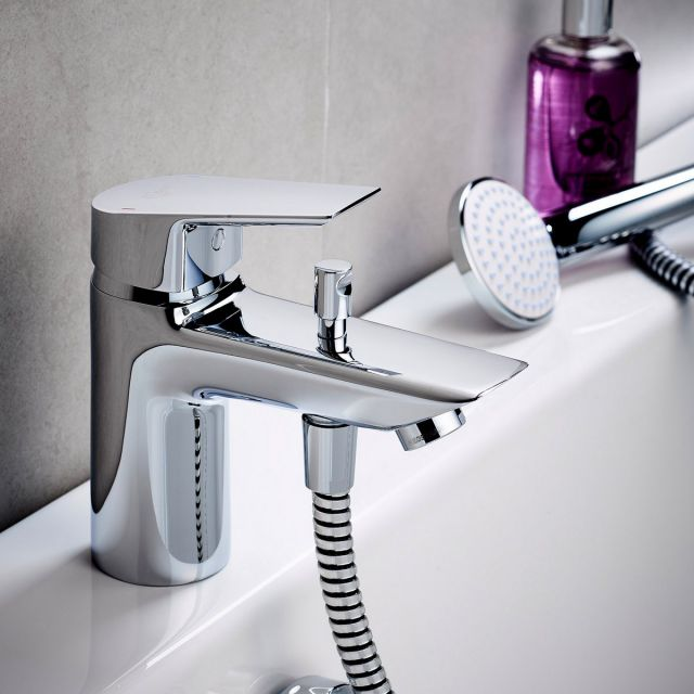 Ideal Standard Tesi One Hole Bath Filler with Shower Handset