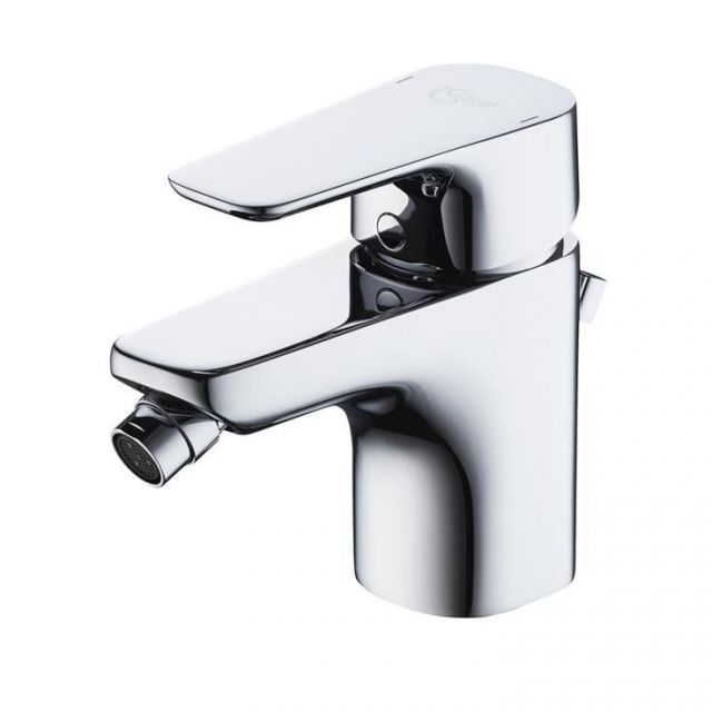 Ideal Standard Tempo Bidet Mixer Tap with Pop-up Waste