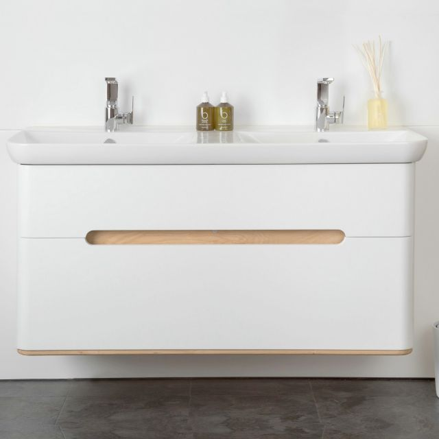 VitrA Sento 2 Drawer Double Vanity Unit