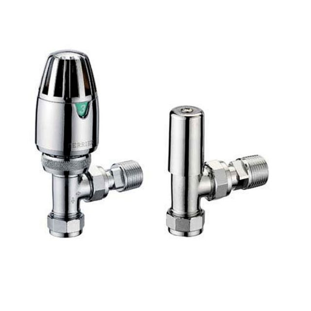 Pegler Terrier Angled Thermostatic Valve Pack