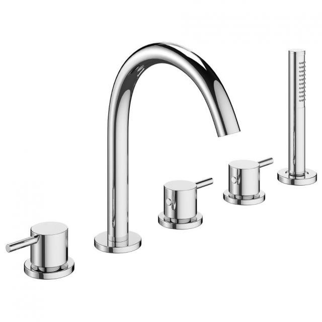 Crosswater MPRO Chrome Bath Shower Mixer Tap - PRO450DC