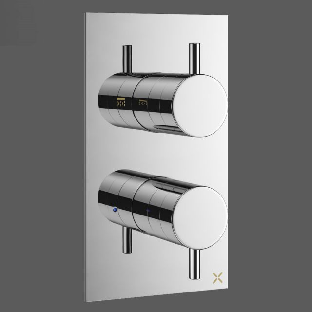 Crosswater MPRO Chrome 1 Outlet Shower Valve - PRO1000RC