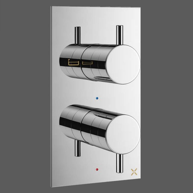 Crosswater MPRO Chrome 2 Outlet Bath and Shower Valve