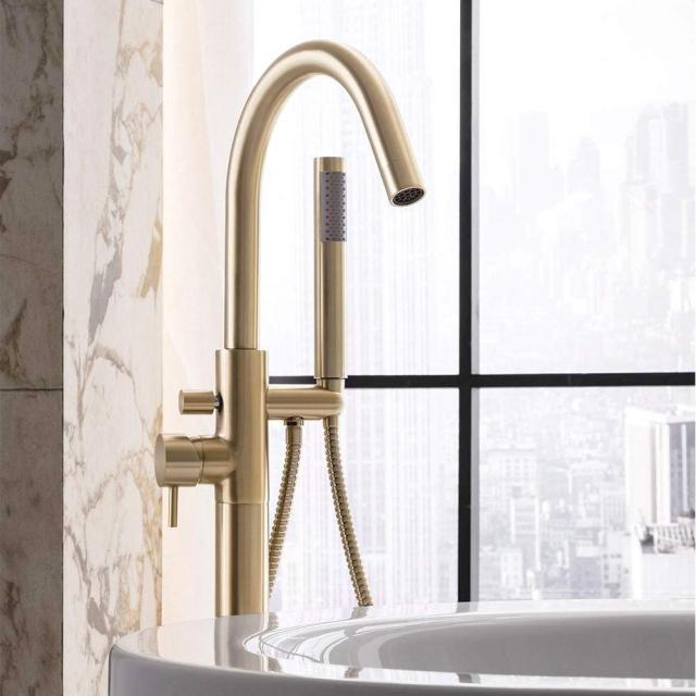 Crosswater MPRO Brushed Brass Bath Shower Mixer Tap