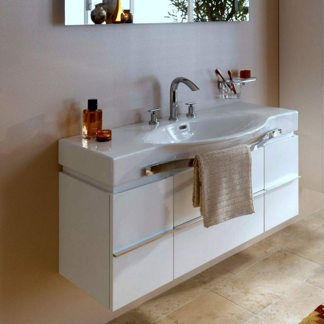 Laufen Palace Vanity Unit with Curved Basin and Towel Rail