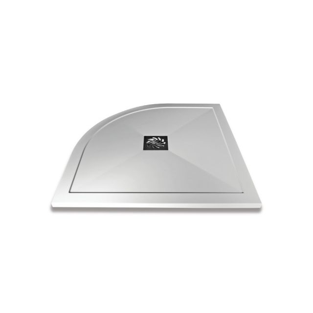 Saneux H25 Stone Resin Offset Quadrant Shower Tray