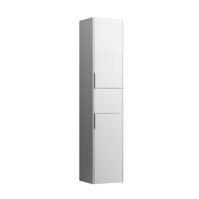 Laufen Base Tall Cabinet with Two Doors and Drawer - 4027111102601