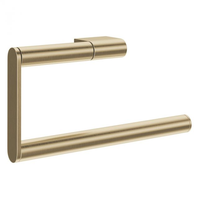 Crosswater MPRO Brushed Brass Towel Ring