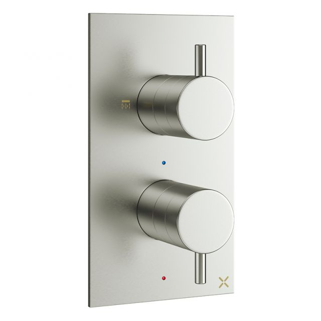 Crosswater MPRO Brushed Steel 2 Outlet Shower Valve