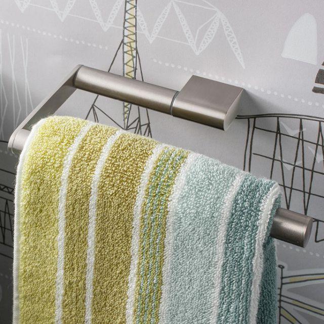 Crosswater MPRO Brushed Steel Towel Ring - PRO013V