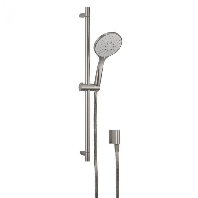 Crosswater MPRO Brushed Steel Shower Rail Kit