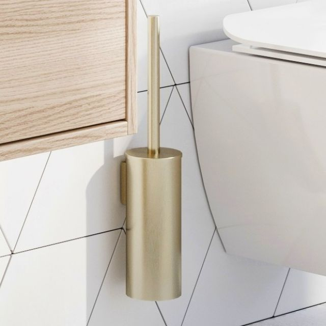 Crosswater MPRO Brushed Brass Toilet Brush