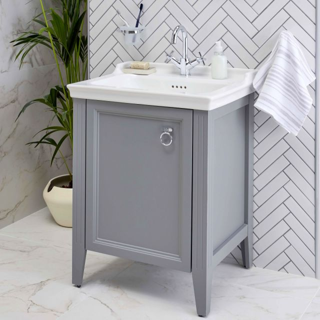 VitrA Valarte 1 Door 65cm Vanity Unit and Basin