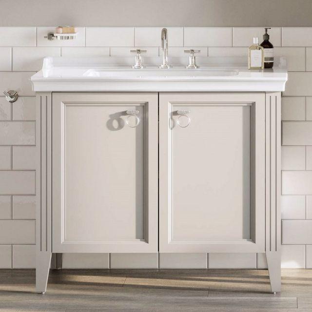 VitrA Valarte 2 Door 80cm Vanity Unit and Basin