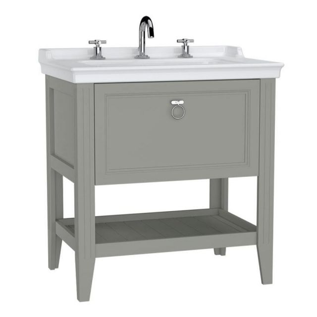VitrA Valarte 1 Drawer 800mm Console and Basin