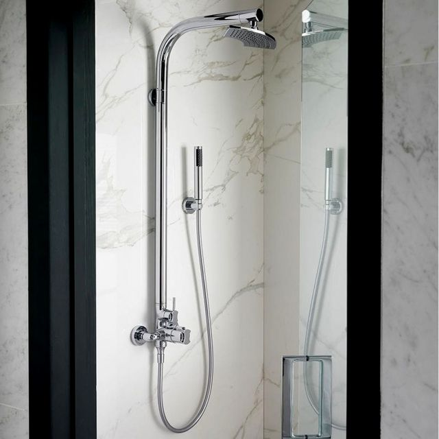 Victoria and Albert Tubo 20 Exposed Thermostatic Shower Kit with Handset