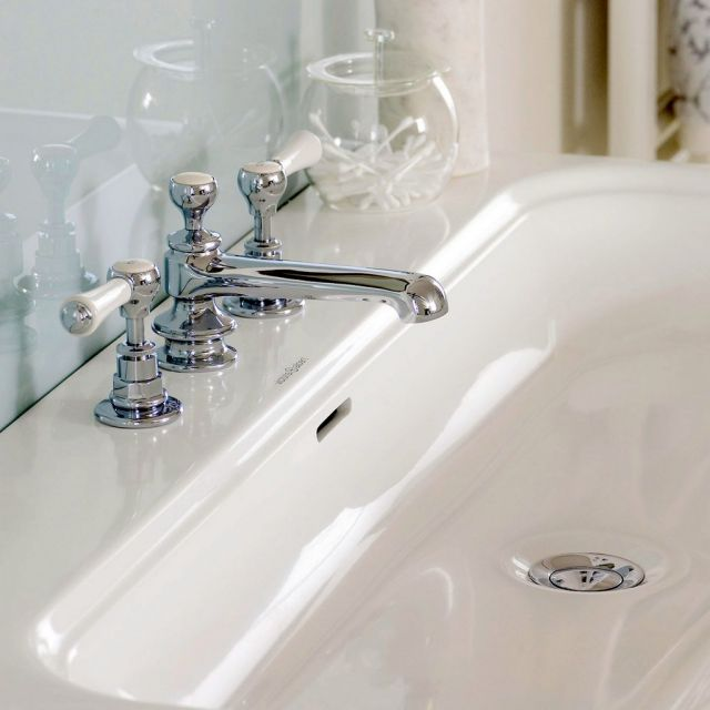Victoria and Albert Staffordshire 3 Hole Basin Mixer Tap Set with Waste