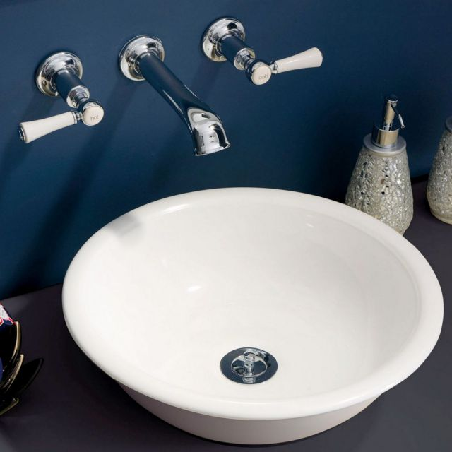 Victoria and Albert Staffordshire 3 Hole Wall Mounted Basin Mixer Tap Set
