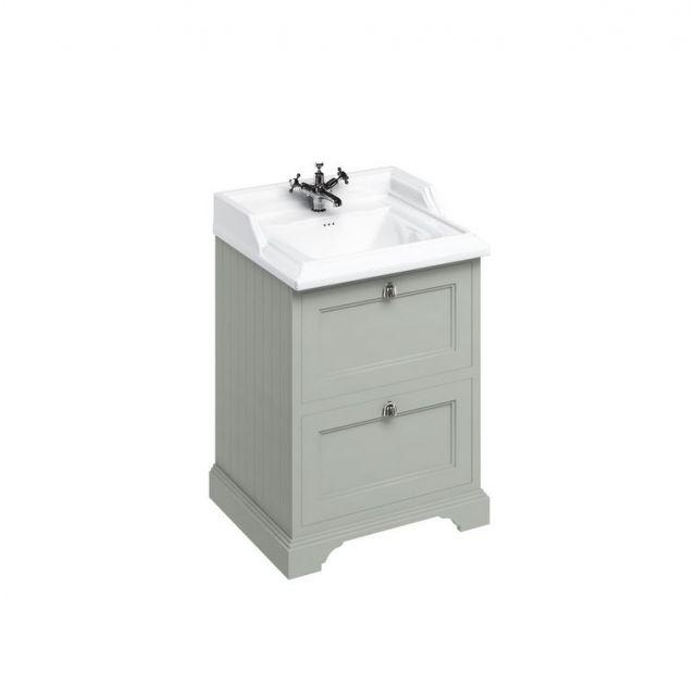 Burlington Medici Free-Standing Cloakroom 2 Drawer Vanity Unit