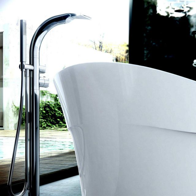 Victoria and Albert Tubo 15 Thermostatic Waterfall Bath Mixer with Shower Set